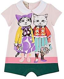 Gucci Infants' Kitten-Friends Cotton Romper - Pink
