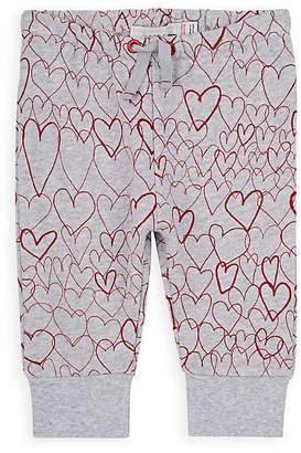 Stella McCartney Infants' Heart-Print Cotton Sweatpants
