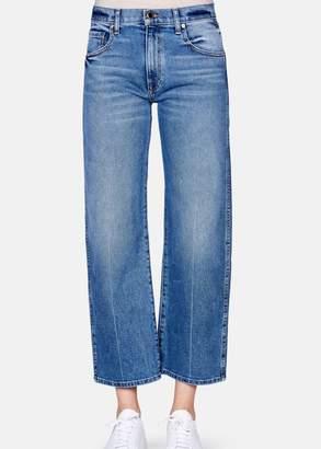 Khaite WENDALL CROPPED WIDE LEG vintage blue (27)