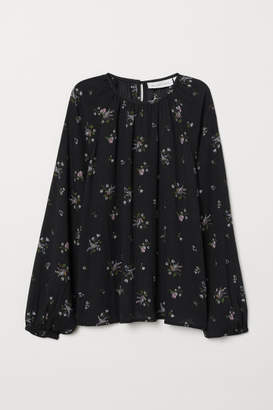 H&M Modal-blend Blouse - Black
