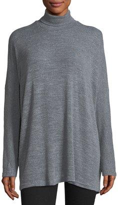 Allen Allen Long-Sleeve Turtleneck Popcorn-Knit Sweater $55 thestylecure.com