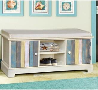 Gallerie Decor Seaside Wood Storage Bench Gallerie Decor