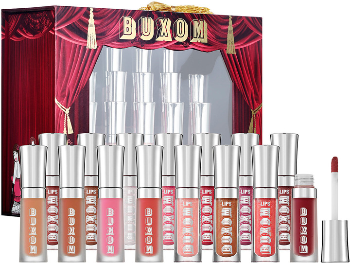 Buxom Shimmer & ShakeTM Show-Stopping Collection of 15 Mini Full-OnTM Lip Polishes & Creams