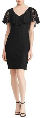 Lauren Ralph Lauren Ruffle-Flounce Lace Dress