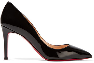 Christian Louboutin - Pigalle 85 Patent-leather Pumps - Black $675 thestylecure.com