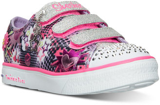 Skechers Little Girls' Twinkle Toes: Twinkle Breeze - Pop-Tastic Light-Up Sneakers from Finish Line $54.99 thestylecure.com
