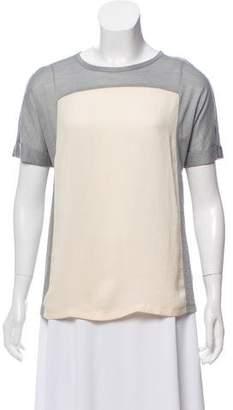 J Brand Wool-Blend Short Sleeve Top