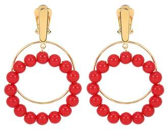 Marni Beaded clip-on earrings
