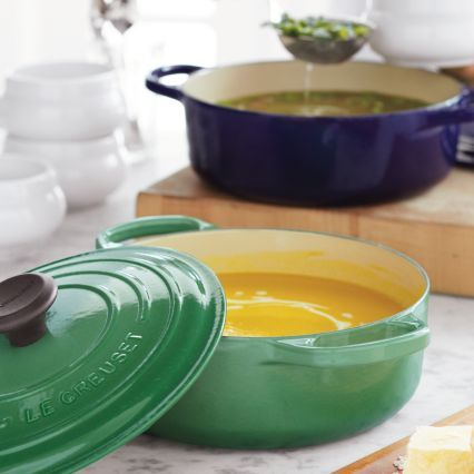 Le Creuset Signature Fennel Round Wide French Oven, 31⁄2 qt.