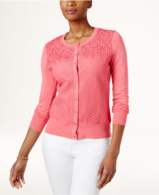 Charter Club Lace Cardigan, Only at Macy's $39.98 thestylecure.com