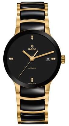 Rado Centrix Automatic Diamond Ceramic Bracelet Watch, 38mm