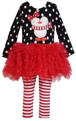 Bonnie Baby Baby-Girls Penguin Appliqued Tutu Skirt Legging Set