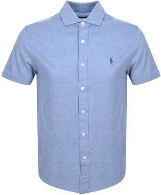 Ralph Lauren Custom Slim Fit Polo T Shirt Blue