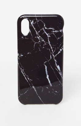 Recover Black Marble iPhone X Case