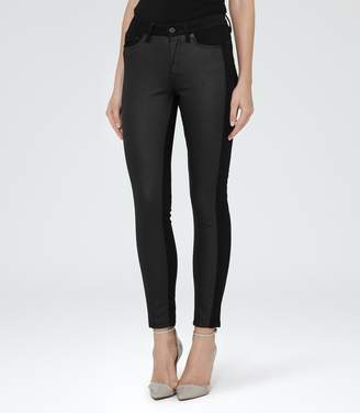 Reiss Stevie Panelled Panelled Skinny Jeans