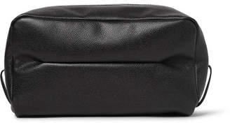 Valextra Large Pebble-Grain Leather Wash Bag