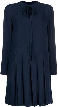 Valentino tie-neck shift dress
