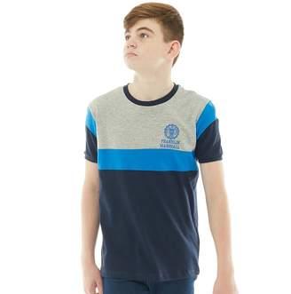 Franklin & Marshall Junior Boys Colourblock T-Shirt Navy