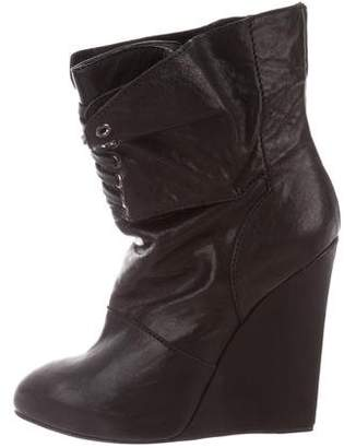 Giuseppe Zanotti x Thakoon Pointed-Toe Leather Boots