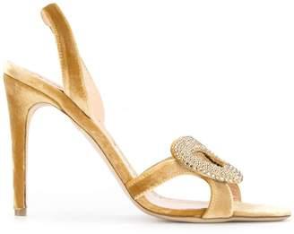 Rupert Sanderson velvet Stardust sandals