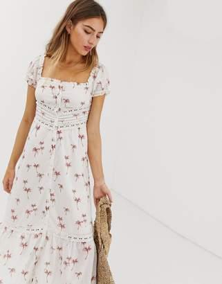e80a1e6e197f Rahi Cali Rahi Staycation lace palm print maxi dress
