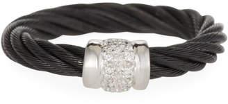 Alor Classique Diamond Cable Ring Black