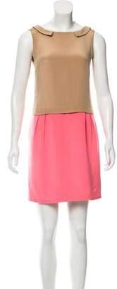 Wayne Silk Color Blocked Dress