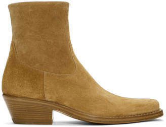 Calvin Klein Tan Suede Western Tod Boots