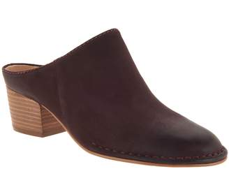 Clarks Leather Block Heel Mules - Spiced Isla