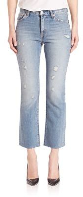 Levi's Distressed Kick Flare Jeans $148 thestylecure.com