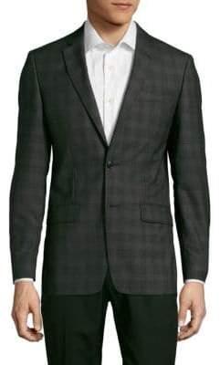 John Varvatos Plaid Woolen Jacket
