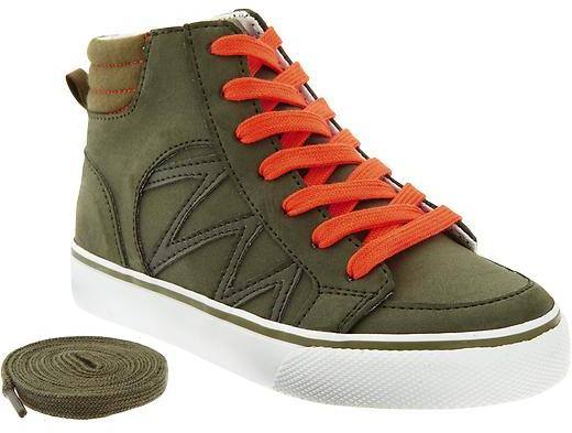 Old Navy Boys Color-Block Sueded High-Tops