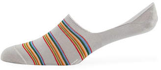 Paul Smith Men's Striped Cotton-Blend No-Show Socks