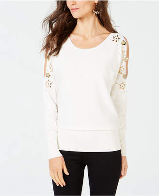 Thalia Sodi Embellished Split-Sleeve Sweater