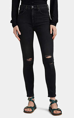 Rag & Bone Women's High Rise Ankle Skinny Distressed Jeans - Gray