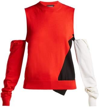 Calvin Klein Deconstructed round neck wool-blend sweater