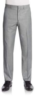Theory Sharkskin Wool Trousers