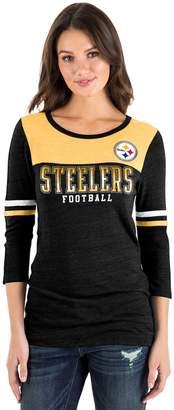 New Era Women's Pittsburgh Steelers Varsity Tee