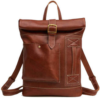 Brix And Bailey Leather Roll Top Backpack