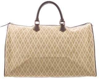 Valentino Leather-Trim Weekender Duffle