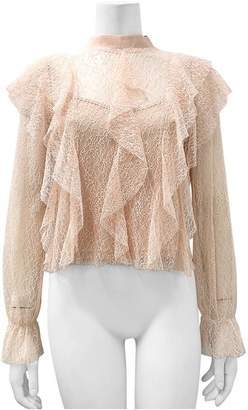 Gracia Lace See-Through Top