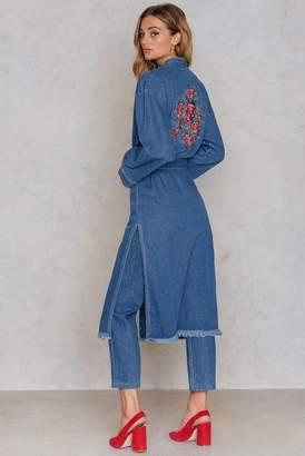 Na Kd Boho Side Slit Denim Kimono