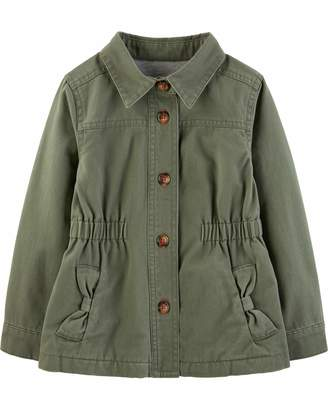 Carter's Simple Joys By Simple Joys by Girls' Twill Button up Jacket