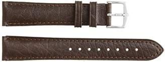 """Hirsch 010090-15-18W 18 -mm Genuine Textured Leather """"No Allergy"""" Lining Watch Strap"""