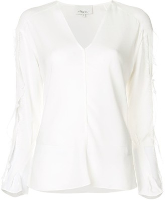 3.1 Phillip Lim frill and lace trim blouse