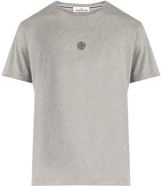 Stone Island Reflective logo cotton T-shirt