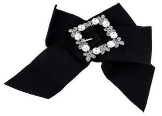 Dolce & Gabbana Crystal Bow Hair Clip