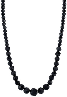1928 Downton Abbey Black Beaded Necklace
