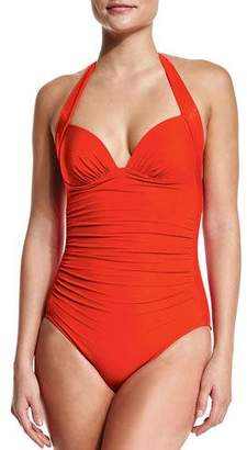 Jets 50s Gathered One-Piece Swimsuit