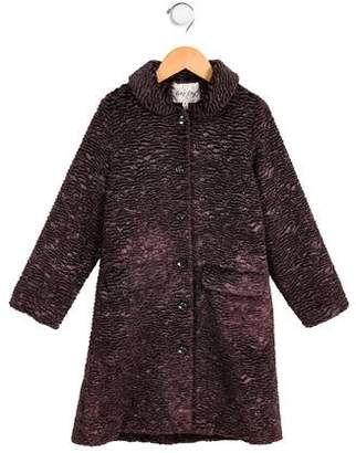 Rachel Riley Girls' Wool-Blend Bouclé Coat